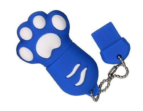 Chat J'adore Clé USB 4GB / Bleu Clé USB Patte de Chat