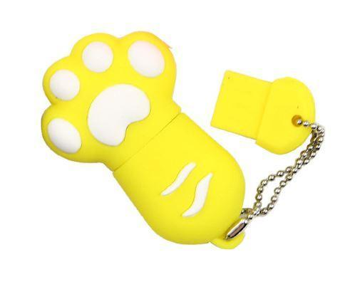 Chat J'adore Clé USB 4GB / Jaune Clé USB Patte de Chat