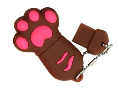 Chat J'adore Clé USB 4GB / Marron Clé USB Patte de Chat