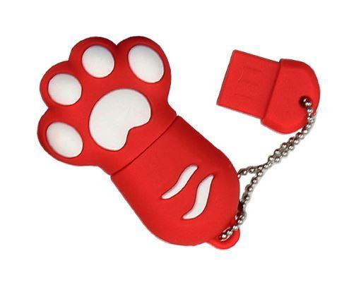 Chat J'adore Clé USB 4GB / Rouge Clé USB Patte de Chat