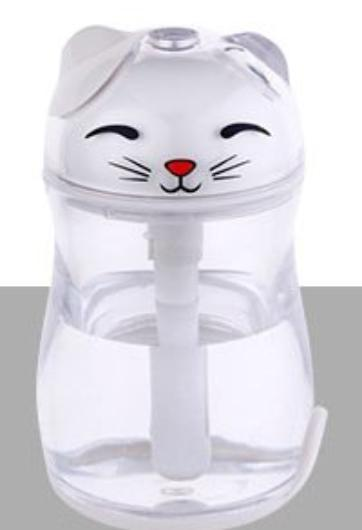 Chat J'adore humidificateur d'air Blanc Humidificateur d'Air Chat Lumineux et Silencieux