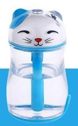 Chat J'adore humidificateur d'air Bleu Humidificateur d'Air Chat Lumineux et Silencieux