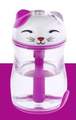 Chat J'adore humidificateur d'air Violet Humidificateur d'Air Chat Lumineux et Silencieux