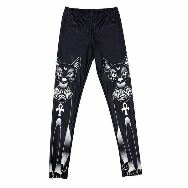 Chat J'adore leggins S Pantalon Stretch Legging Chat Egyptien