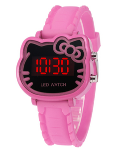 Chat J'adore montre Rose Montre à Quartz Chat pour enfants