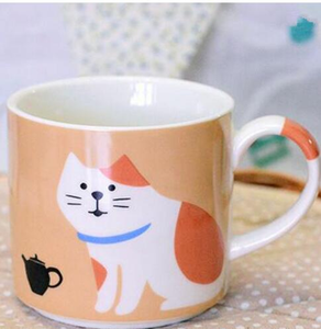 Chat J'adore mug Tasse chat orange Adorable Tasse Chat en Céramique