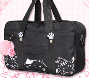 Chat J'adore sac Sac Pratique Look Félin