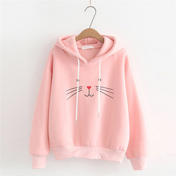 Chat J'adore Sweat Rose / L Adorable Pull / Sweat-Shirt à Capuche Chat