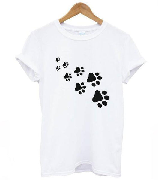 Chat J'adore T-shirt Blanc / S T-Shirt Pattes de Chat