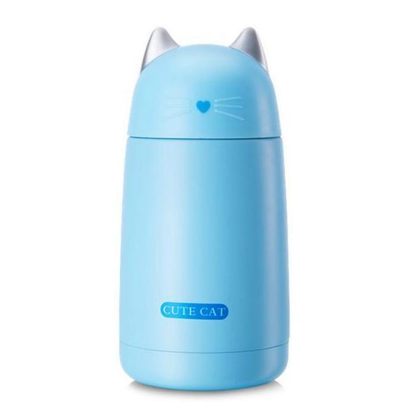 Chat J'adore thermos Bleu Superbe Thermos Chat