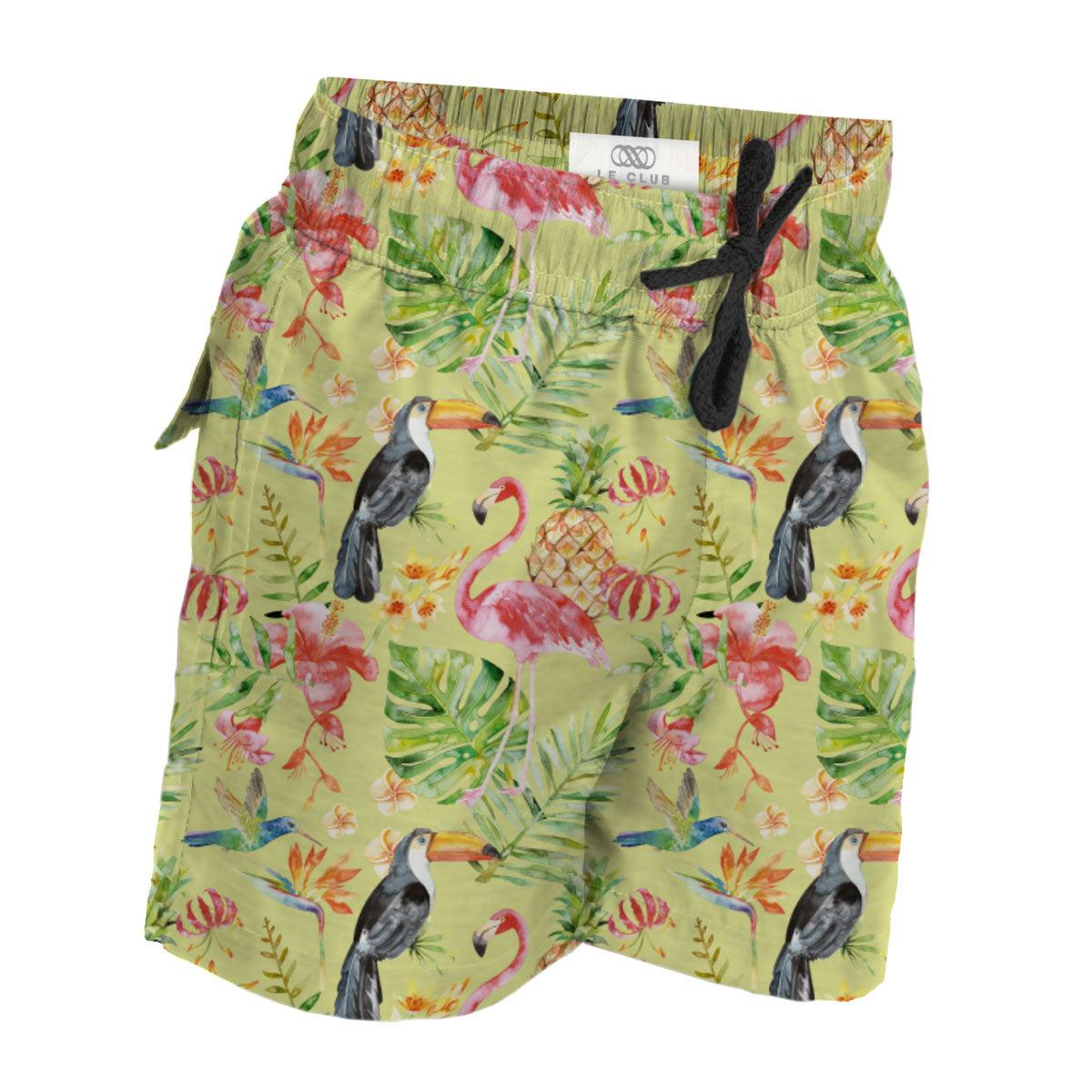 Boy's Swim Trunks Tropical