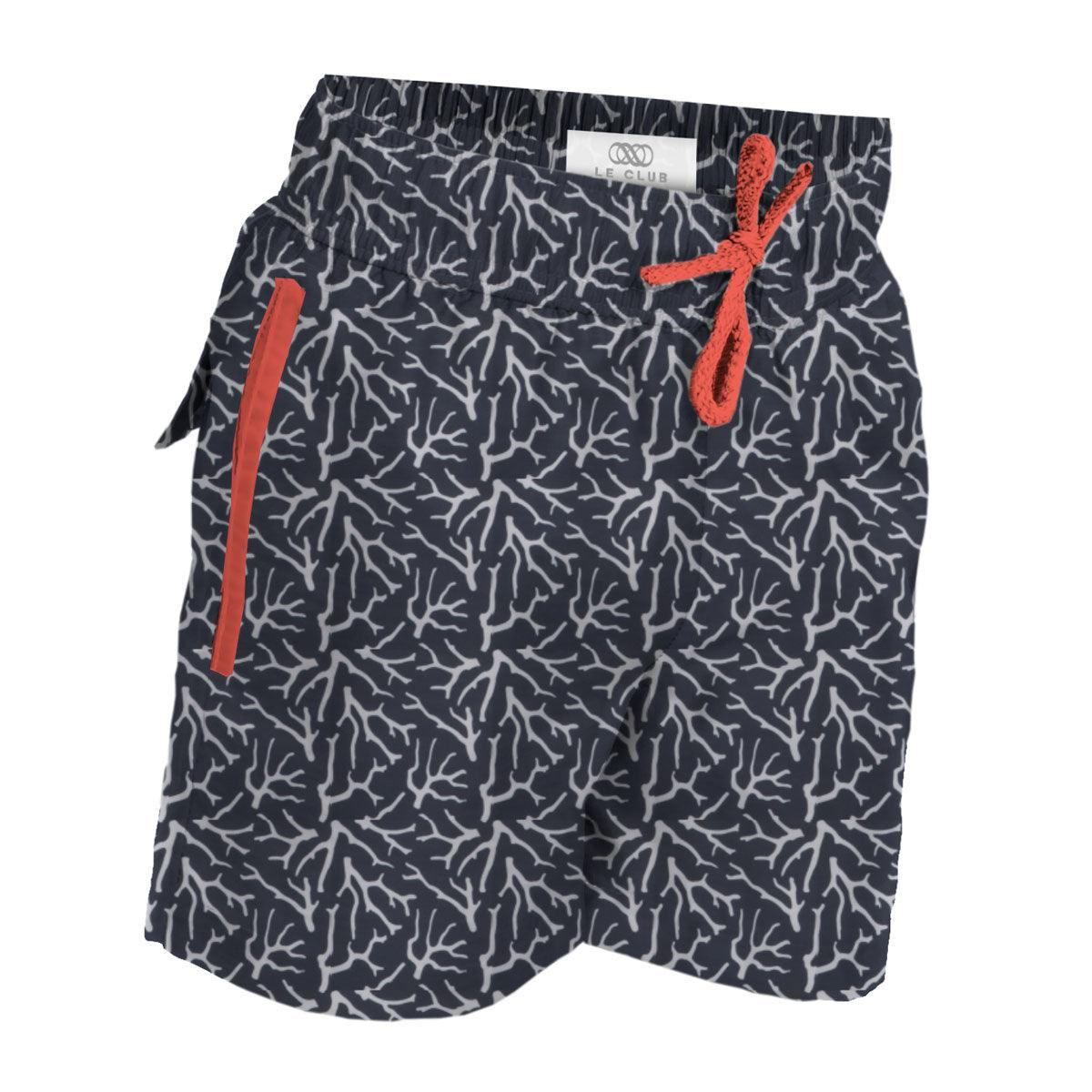Boy's Swim Trunks Coral
