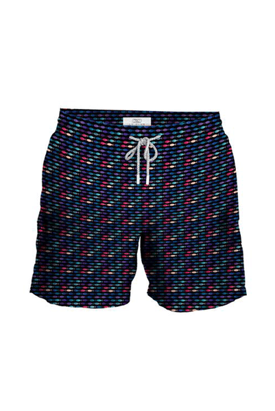 Men's Swim Trunks Fish Neon