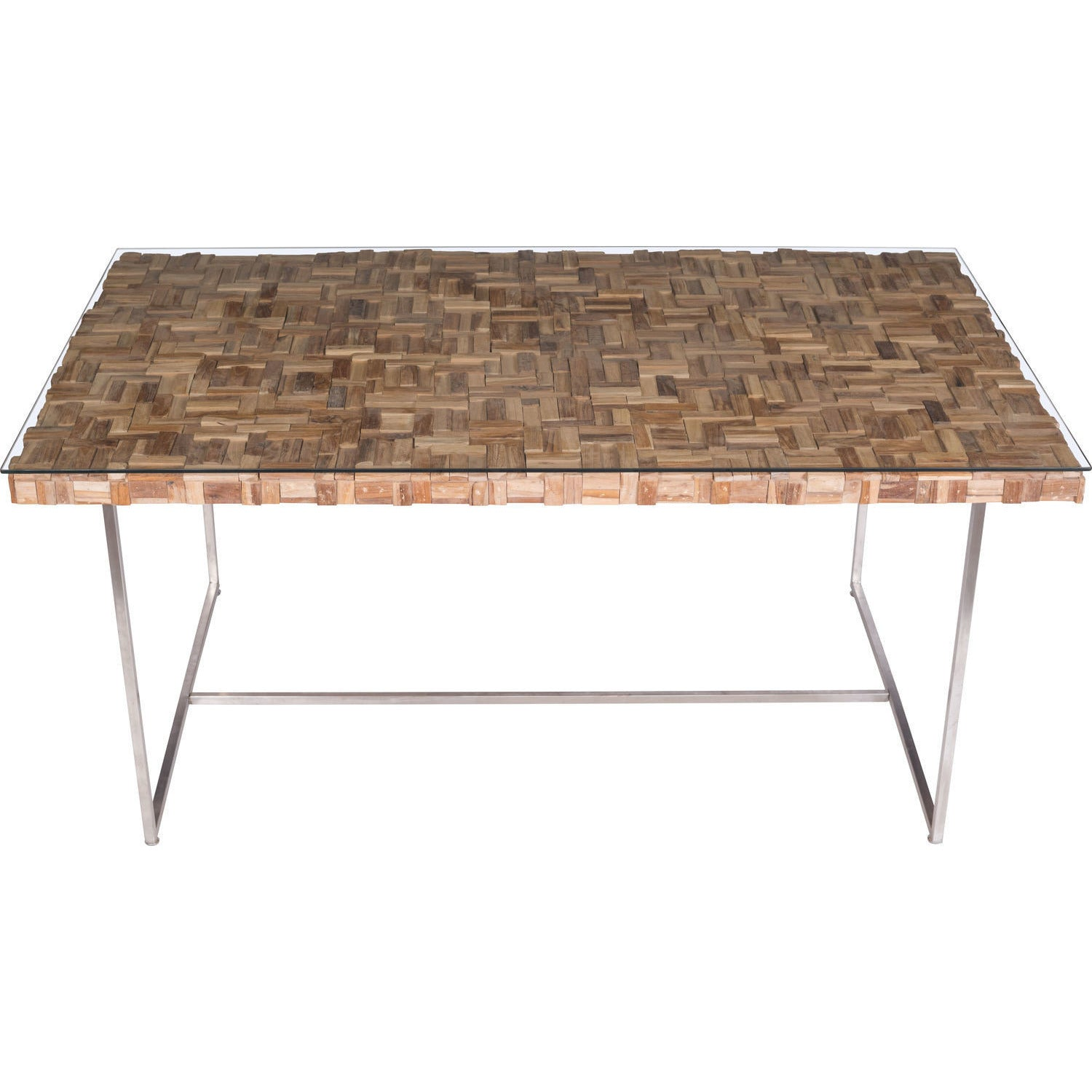 Reclaimed Teak Dining Table Zuo Modern Collage Dining Table Reclaimed Teak Natural 100260
