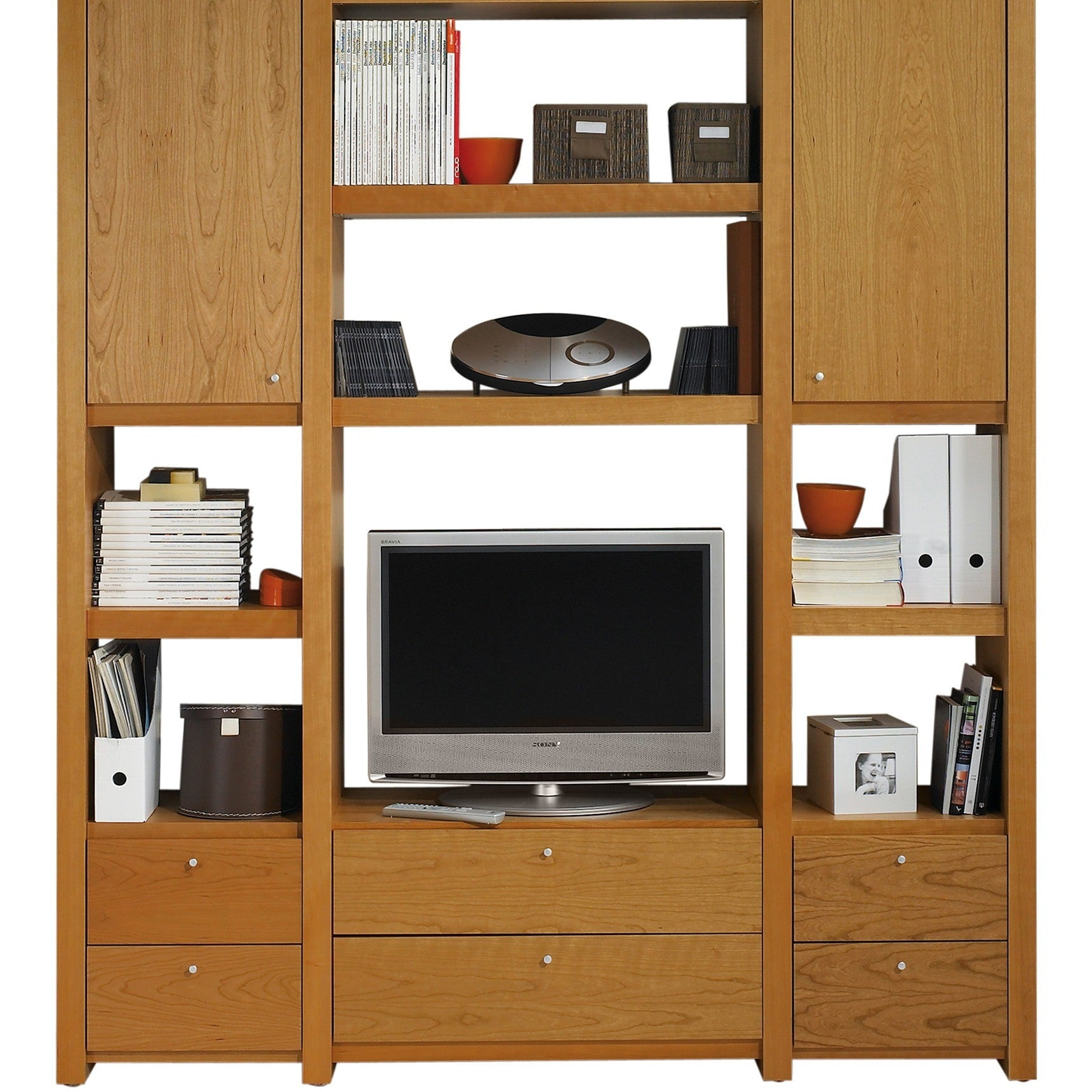 atlas composition shu13 cherry bookcase by tema home