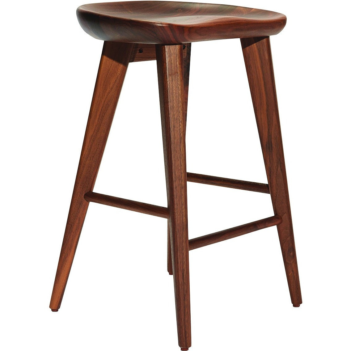 Taburet Counter or Bar Stool Walnut With Matte Finish P-1002 by Ion Design  sc 1 st  Luxe Wood Furnishings & Taburet Counter or Bar Stool Walnut With Matte Finish P-1002 by ... islam-shia.org