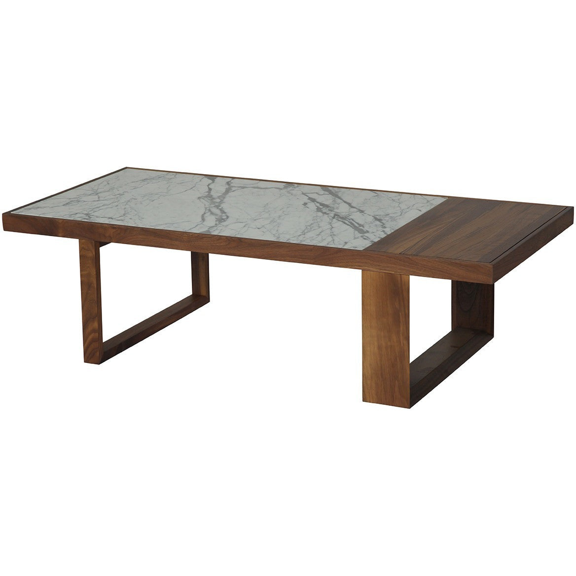 Astor Coffee Table Walnut Marble P By Ion Design Luxe Wood - Walnut and marble coffee table