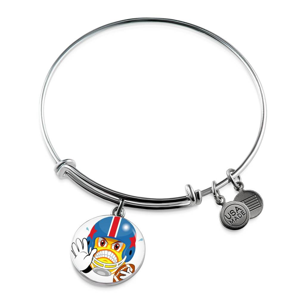 Snarky McSnarkerson Stainless Steel Circle Pendant Bangle