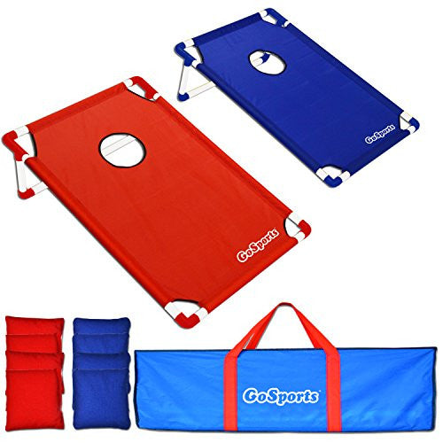 Portable PVC-Framed Cornhole Set