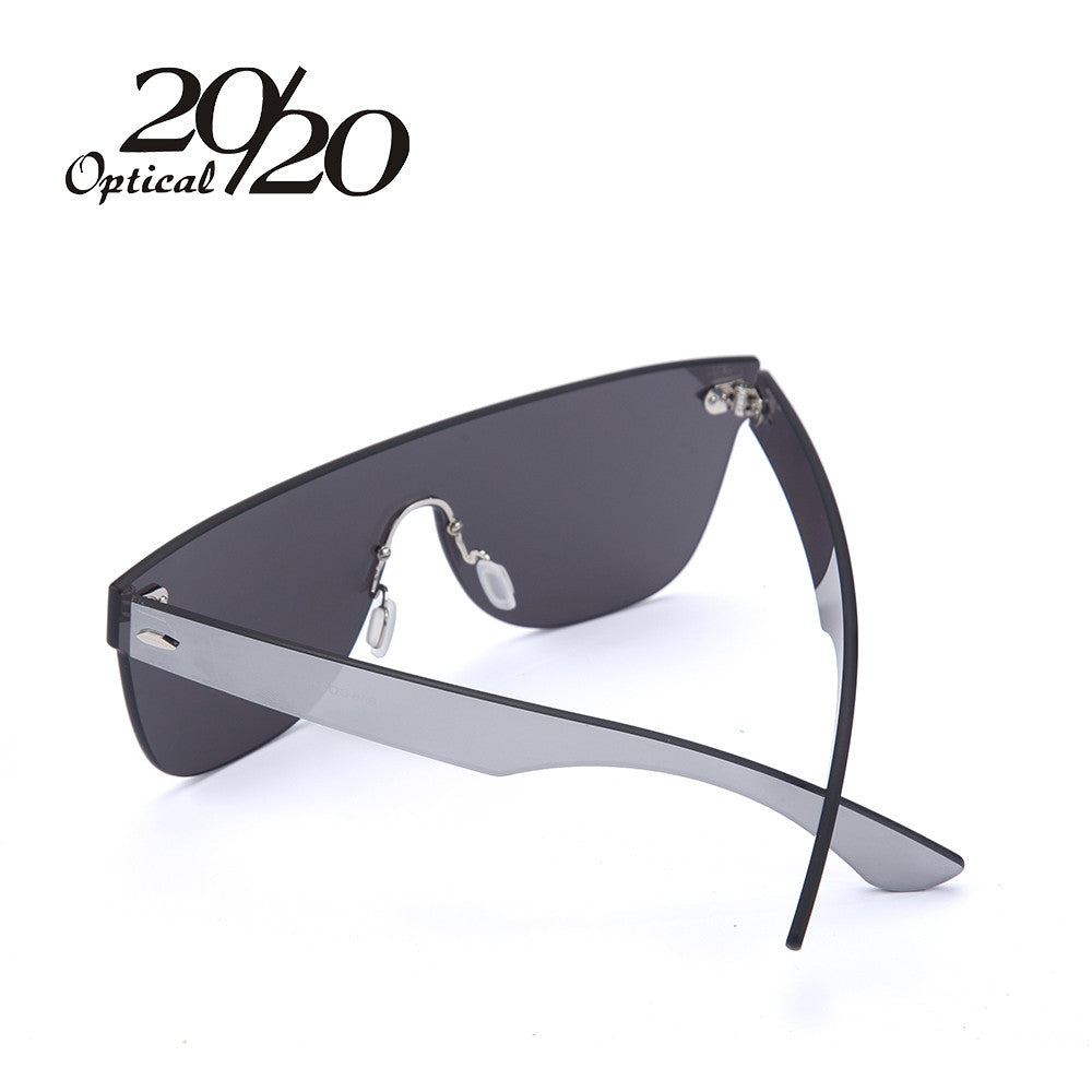 Polarized Hard-Driving Rimless Mirrored Sunglasses for the New Age