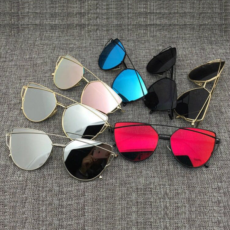 Cat's Eye Mirrored Designer Sunglasses for Women Wanting High-Beams