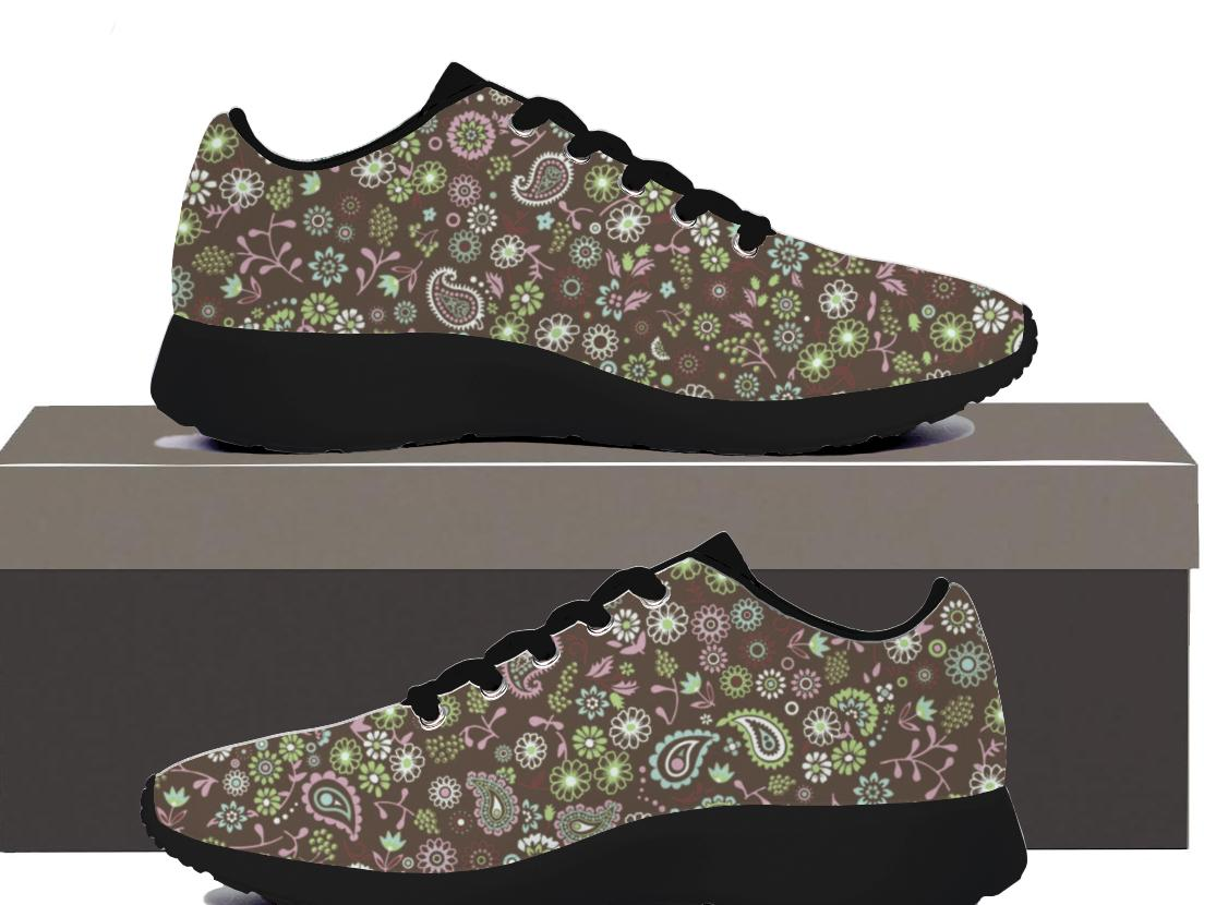 Paisley n Flowers - Mens Sneakers