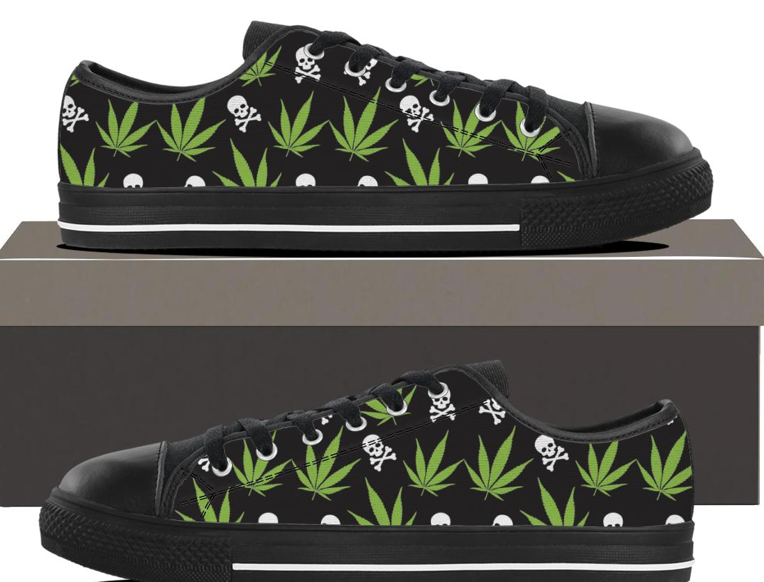 Weed Pattern - Mens Lowtop