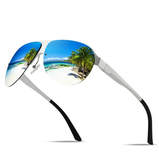 Classic Aluminum Magnesium Polarized Mirrored Shades
