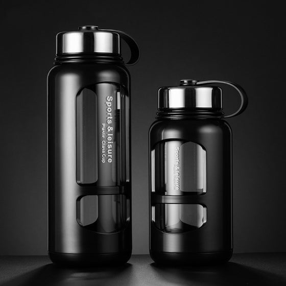 Your Basic Leak-Proof Glass Water Bottles - 2 Sizes