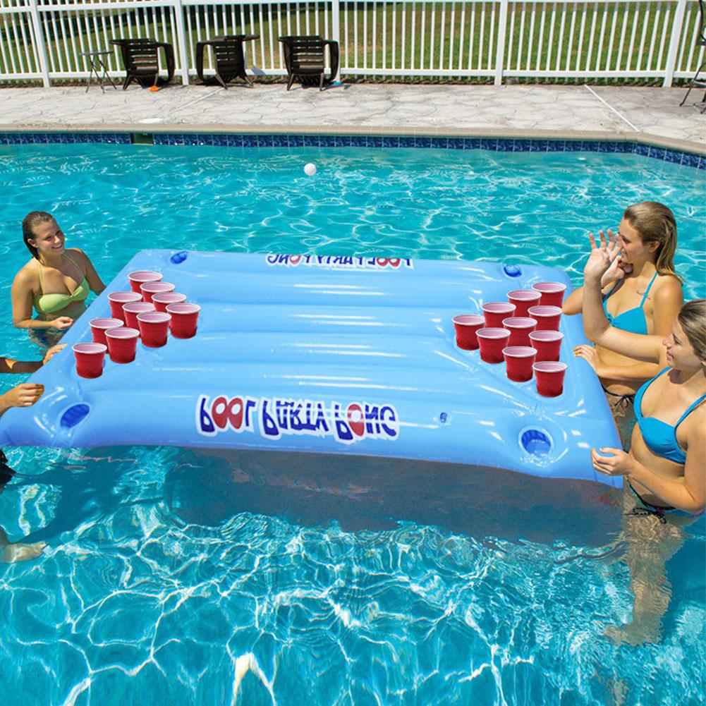 Inflatable Beer Pong Table Float and Lounge Raft