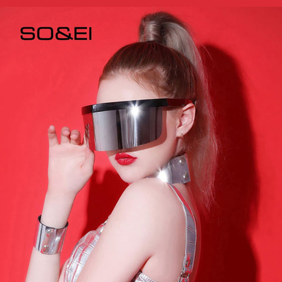 Anti-Peep, One-Piece Rimless Sunglasses