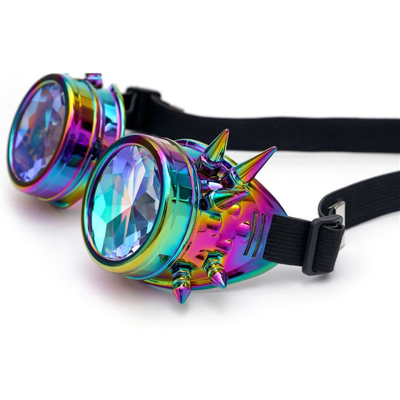 Road Warrior Kaleidoscope Steampunk Gothic Goggles