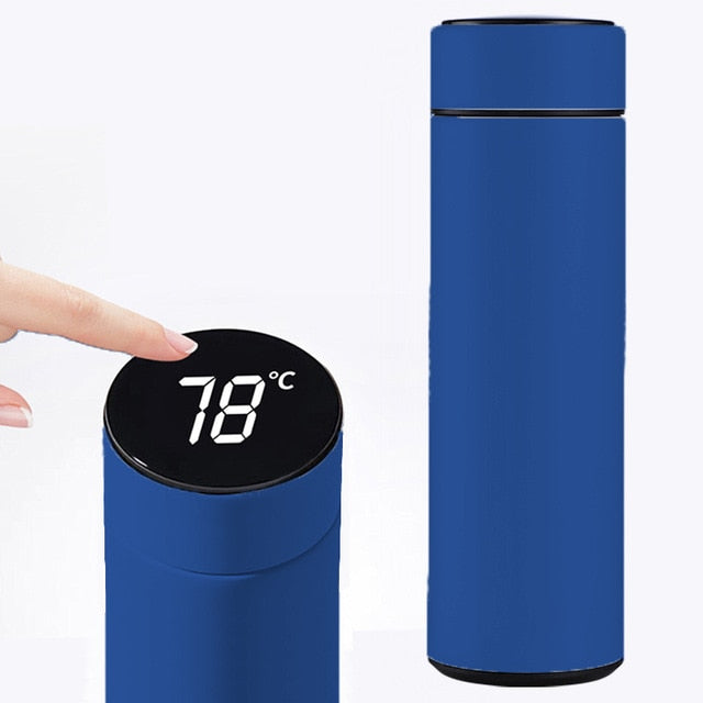 Intelligent Stainless Steel Vacuum Bottle w Temperature Display