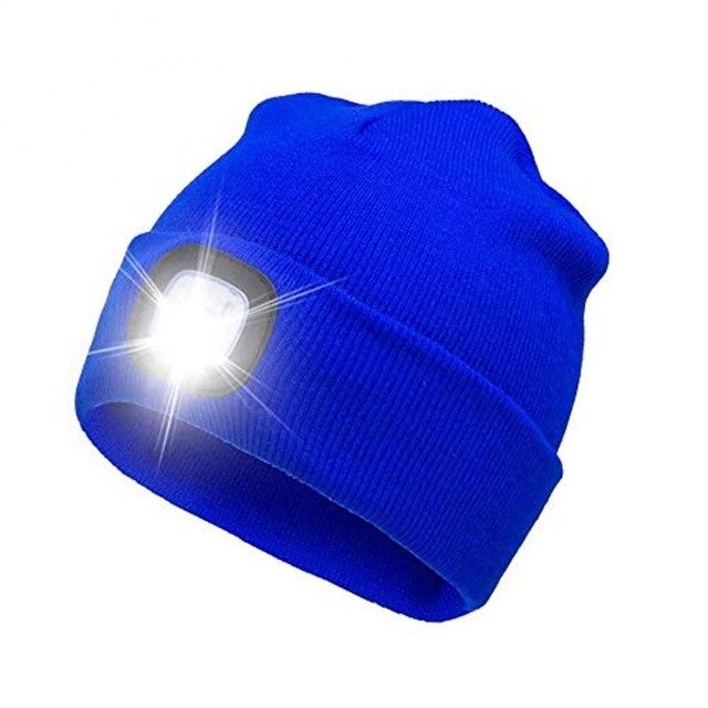 4-LED Knitted Beanie