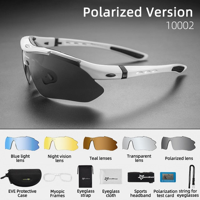 Polarized Photochromic Riding Goggles w Myopia Frame