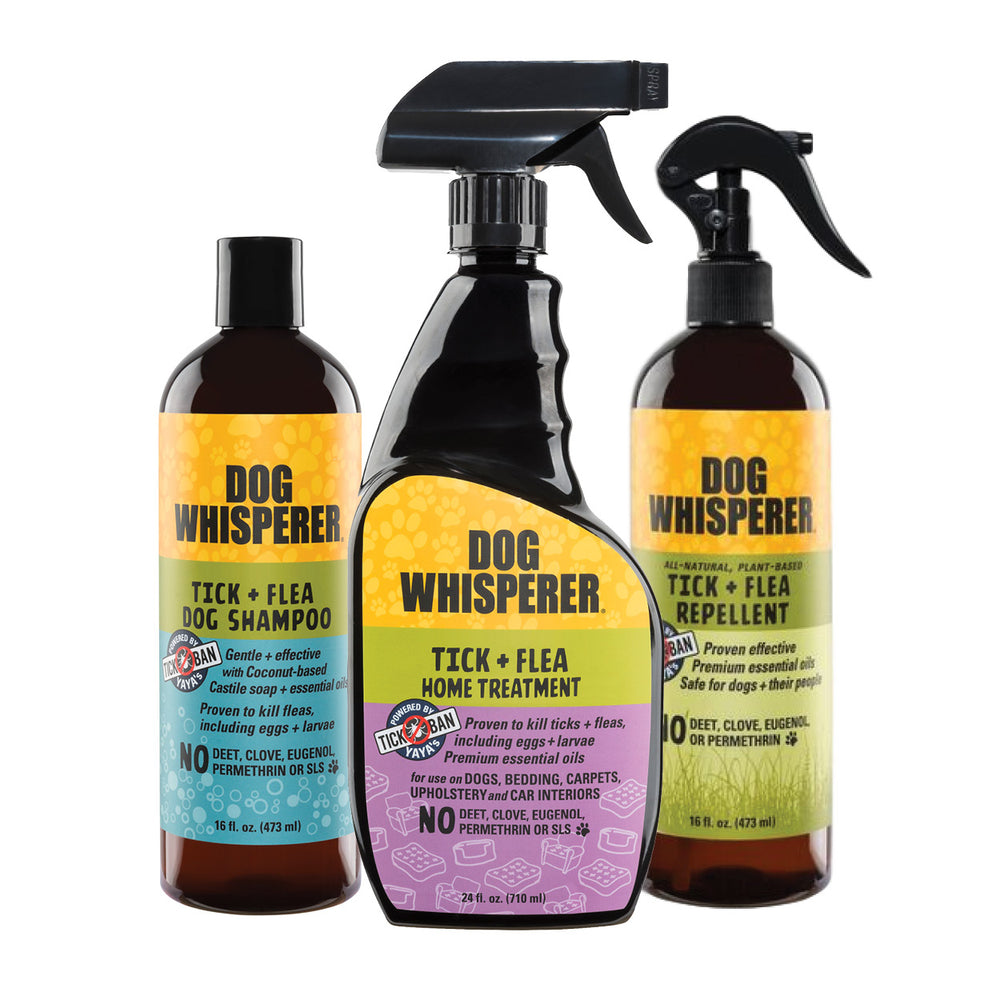 Load image into Gallery viewer, Dog Whisperer TICK + FLEA Complete System Triple-Pack