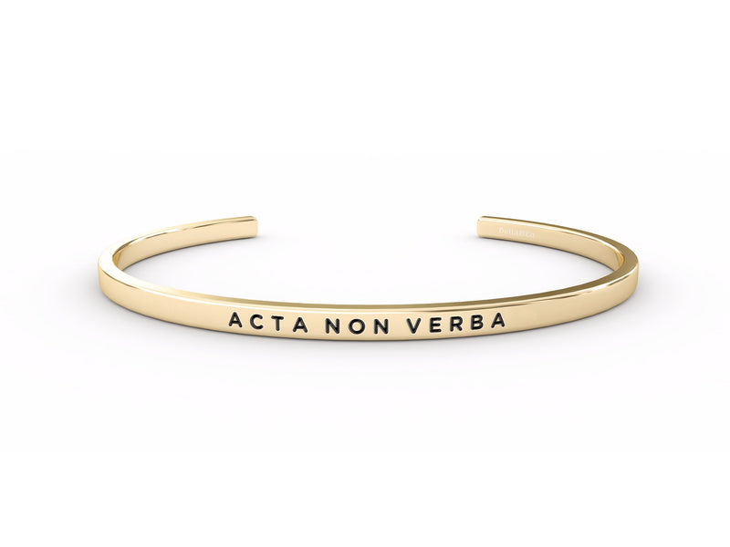 Acta Non Verba (actions, not words)  Gold Delta & Co Bracelet by Delta & Co