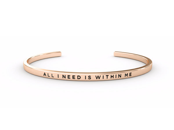 All I Need is Within Me  Rose Gold Delta & Co Bracelet by Delta & Co
