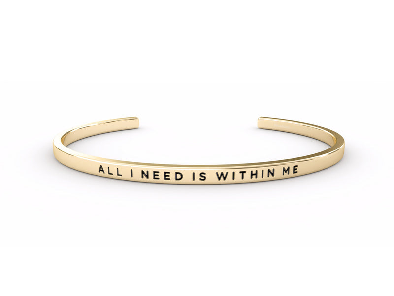 All I Need is Within Me  Gold Delta & Co Bracelet by Delta & Co