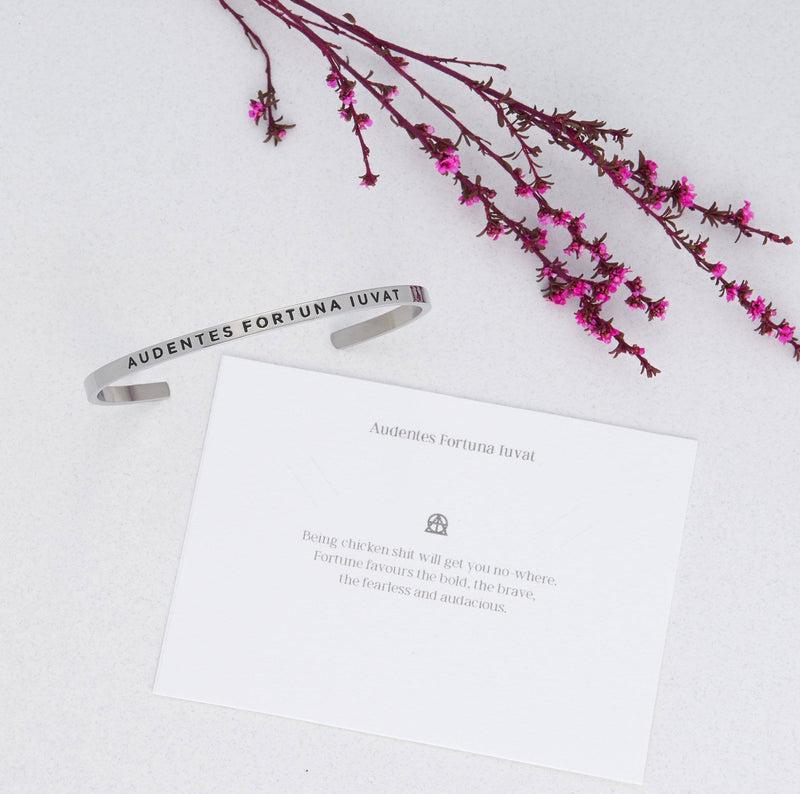 Audentes Fortuna Iuvat (fortune favours the bold)   Delta & Co Bracelet by Delta & Co