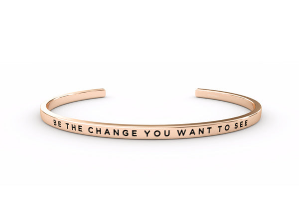Be The Change You Want To See  Rose Gold Delta & Co Bracelet by Delta & Co