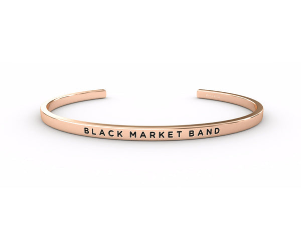 Black Market Band  Rose Gold Delta & Co Bracelet by Delta & Co