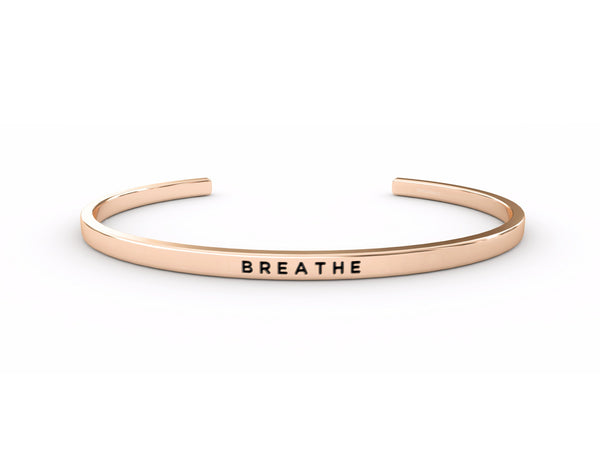 Breathe  Rose Gold Delta & Co Bracelet by Delta & Co
