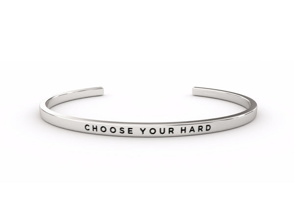 Choose Your Hard  Silver Delta & Co Bracelet by Delta & Co