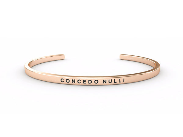Concedo Nulli  Rose Gold Delta & Co Bracelet by Delta & Co