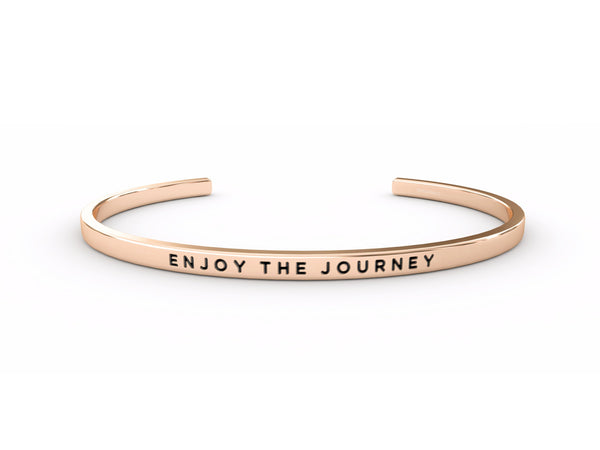 Enjoy The Journey  Rose Gold Delta & Co Bracelet by Delta & Co