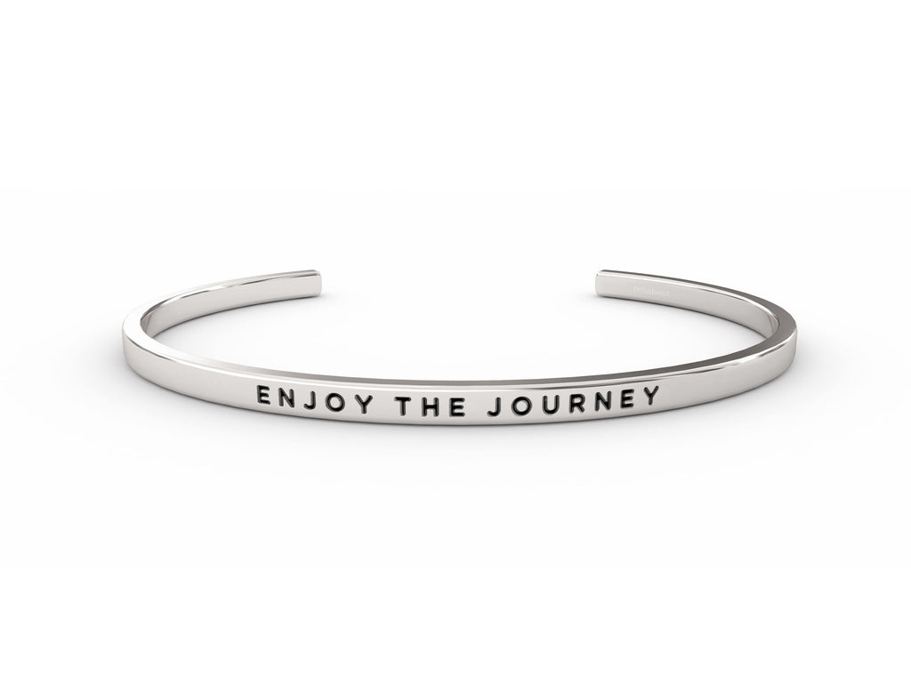 Enjoy The Journey  Silver deltaband Bracelet by Delta & Co