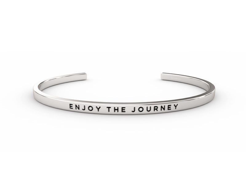 Enjoy The Journey  Silver Delta & Co Bracelet by Delta & Co