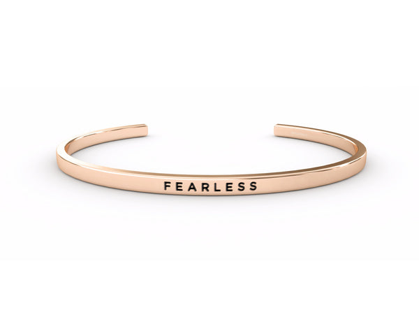 Fearless  Rose Gold Delta & Co Bracelet by Delta & Co