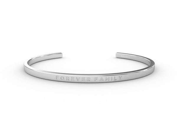 Forever Family - Clear  Silver - Clear Delta & Co Bracelet by Delta & Co